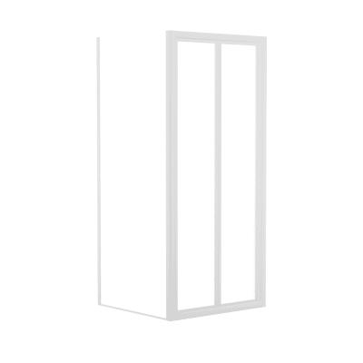 Porta doccia 70 x 80 cm, H 185 cm in acrilico, spessore 3 mm serigrafato e brinato bianco