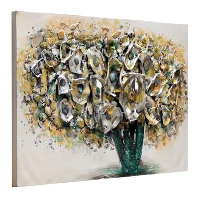 Quadro dipinto a mano Fiori Gialli 90x60 cm