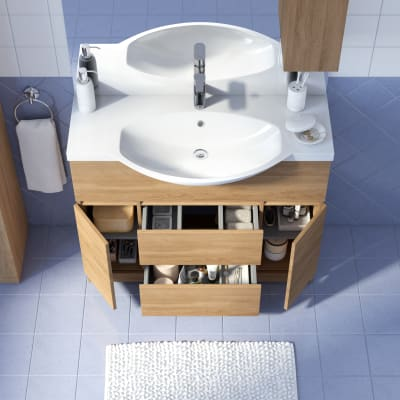 Mobile bagno Elise rovere tabacco L 100 cm