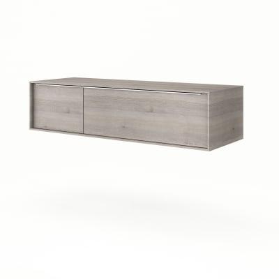 Base Neo Frame 1 cassetto 1 anta L 135 x P 48 x H 33 cm rovere grigio legno ed effetto legno SENSEA