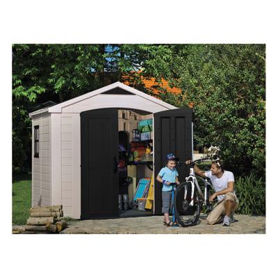 Casetta da giardino in resina Domus 8x6 4.42 m² spessore 16 mm
