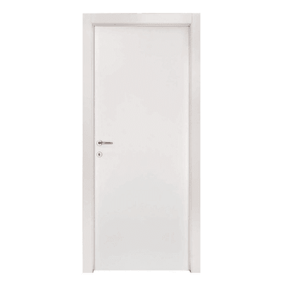 Porta a battente Strauss bianco L 80 x H 200 cm reversibile