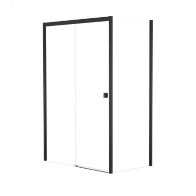 Box doccia scorrevole 150 x , H 200 cm in vetro, spessore 6 mm trasparente nero