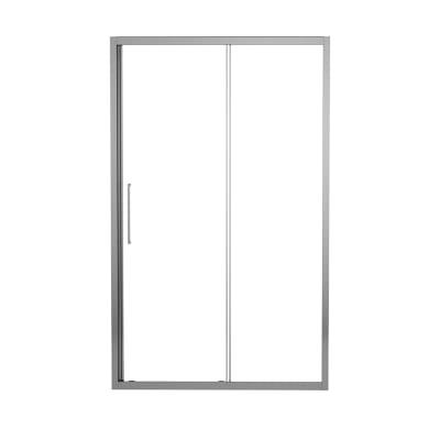 Porta doccia scorrevole Record 145 cm, H 195 cm in vetro temprato, spessore 6 mm trasparente argento