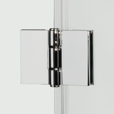 Porta doccia pieghevole Record 90 cm, H 195 cm in vetro temprato, spessore 6 mm trasparente argento