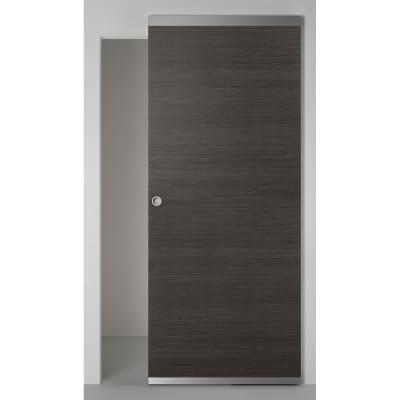 Porta scorrevole con binario esterno timber easy in legno for Leroy merlin porta scorrevole
