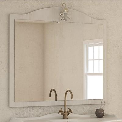Specchio con faretto bagno rettangolare Giotto L 110 x H 100 cm