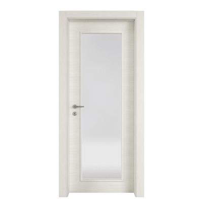 Porta a battente Star Vetro bianco matrix L 80 x H 210 cm reversibile