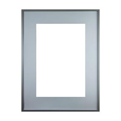 Cornice con passe-partout Inspire milo grigio 60x80 cm