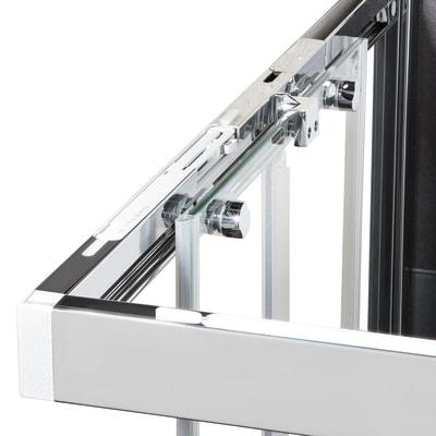 Box doccia scorrevole 120 x 80 cm, H 200 cm in vetro, spessore 6 mm serigrafato nero