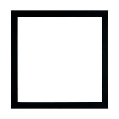 Cornice con passe-partout Inspire milo nero 20x20 cm