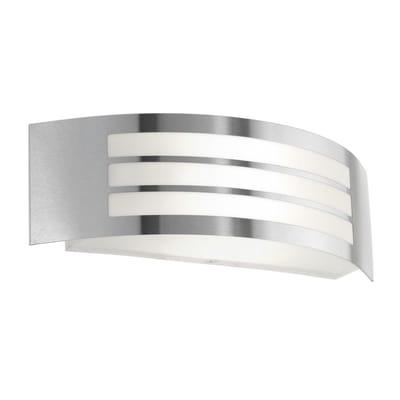 Applique Leirosin acciaio, alluminio, E27 MAX25W IP44 EGLO