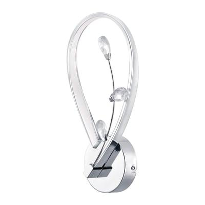 Applique neoclassico Vallemare LED integrato cromo, bianco, in alluminio, 13 cm, EGLO