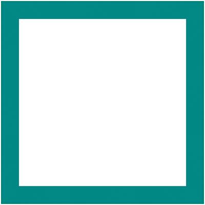Cornice INSPIRE Vik blu baltico per foto da 14x14 cm