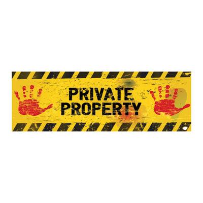 Quadro su tela Private Property 20x60 cm
