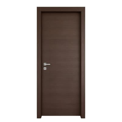 Porta a battente Timber fumo L 60 x H 210 cm reversibile