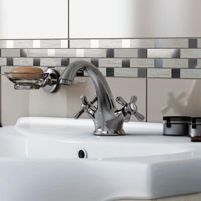 Mobile bagno Ginevra rovere bianco L 81 cm