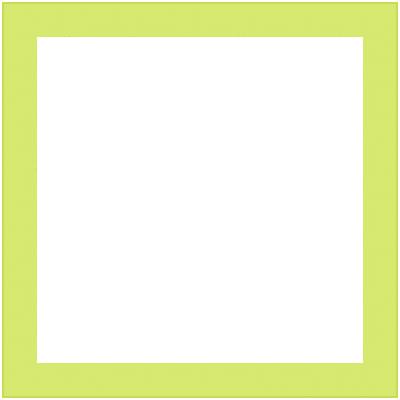 Cornice INSPIRE Vik verde per foto da 14x14 cm