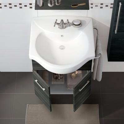 Mobile bagno Ginevra rovere scuro L 56.5 cm