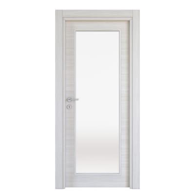 Porta a battente Pigalle palissandro bianco L 80 x H 210 cm reversibile