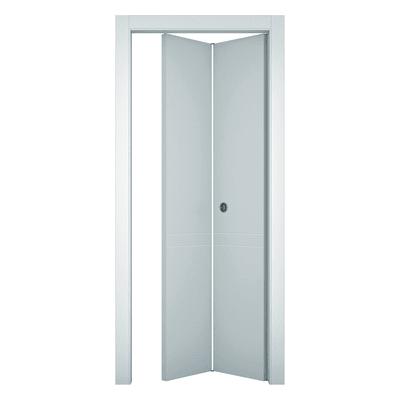 Porta pieghevole Rail bianco L 80 x H 210 cm sinistra