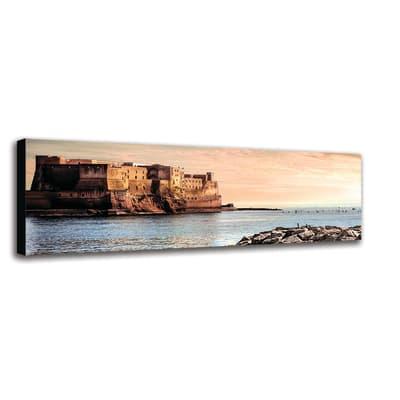 Quadro su tela Napoli Castel Dell'Ovo 40x125 cm