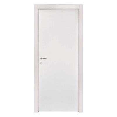 Porta a battente Strauss bianco L 90 x H 210 cm reversibile