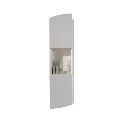 Pensile Soft 2 ante L 24 x P 18 x H 100 cm struttura lucido bianco e frontali grigio nuvola laccato