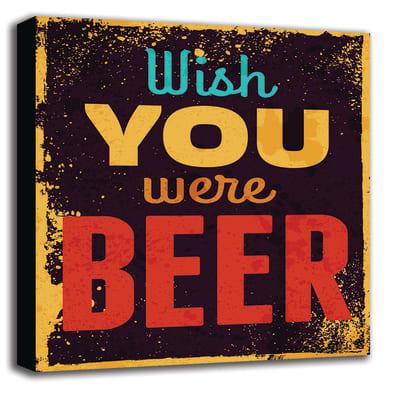 Quadro su tela Wish Beer 60x60 cm
