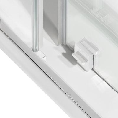 Box doccia scorrevole 70 x 120 cm, H 195 cm in vetro, spessore 6 mm trasparente bianco
