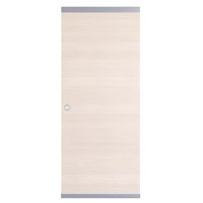 Porta scorrevole con binario esterno Lucad Easy in legno Binario nascosto L 91 x H 221 cm