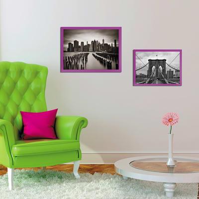 Cornice INSPIRE fucsia per foto da 50X70 cm