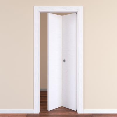 Porta pieghevole Plaza frassino bianco L 70 x H 210 cm destra