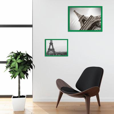 Cornice INSPIRE verde per foto da 21X29,7 cm