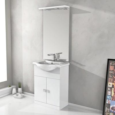 Mobile bagno Super a bianco L 65 cm