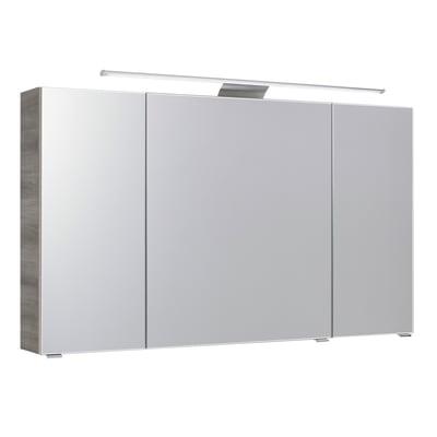 Specchio contenitore con luce Solitaire L 120 x P 17 x H 70 cm antracite laminato