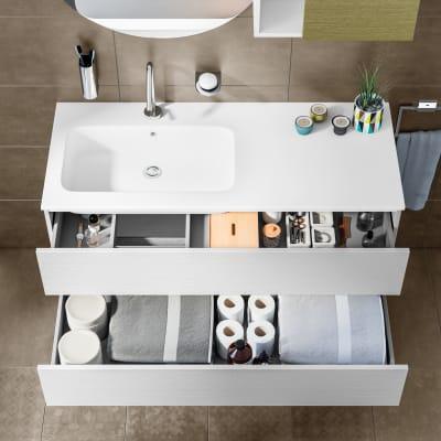 Mobile bagno Share bianco e verde L 121 cm