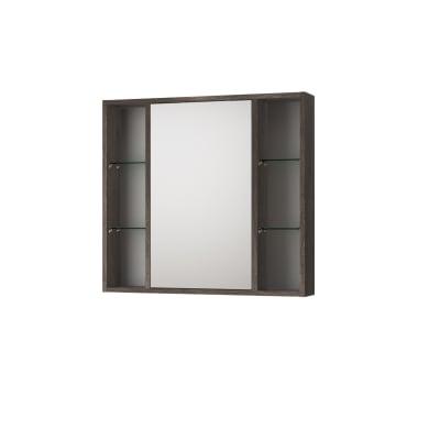 Specchio contenitore senza luce Kora L 74 x P 16 x H 75 cm rovere scuro