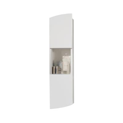 Pensile Soft 2 ante L 24 x P 18 x H 100 cm lucido bianco laccato