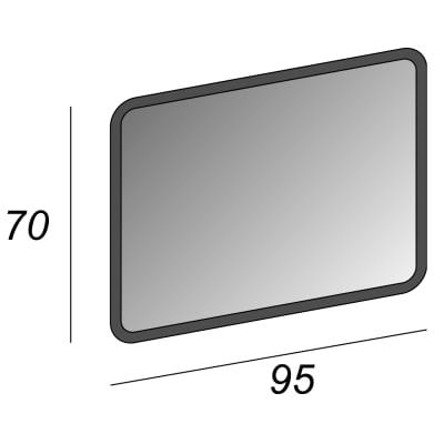 Specchio con illuminazione integrata bagno rettangolare Liverpool L 95 x H 70 cm