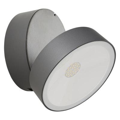 Applique Shedepan LED integrato in alluminio, grigio, 15.5W IP54 INSPIRE