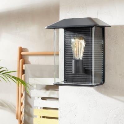 Applique per giardino Horton in alluminio, nero, E27 MAX60W IP44 INSPIRE