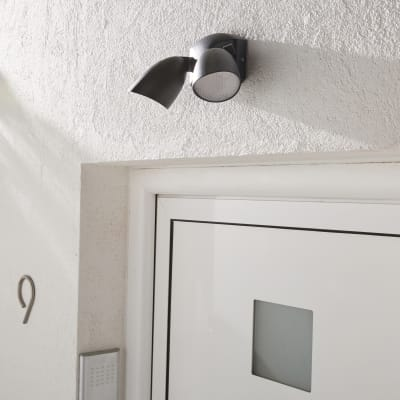 Applique LED integrato in alluminio, nero, 19W IP54 INSPIRE