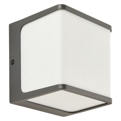 Applique Telin LED integrato in alluminio, grigio, 14.5W 1250LM IP54 INSPIRE