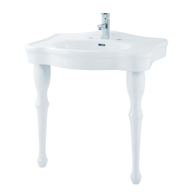 Lavabo quadrato L 71.0 x P 85.3 cm in ceramica bianco
