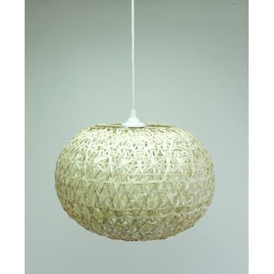 Lampadario Hana marrone, in bambù, diam. 40 cm, E27 MAX60W IP20 INSPIRE