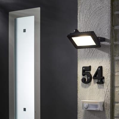Proiettore LED integrato Yonkers in alluminio, antracite, 20W 1800LM IP65 INSPIRE