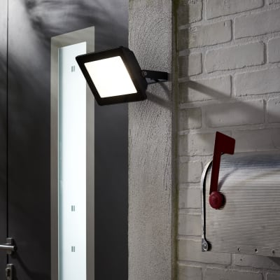 Proiettore LED integrato Yonkers in alluminio, antracite, 50W IP65 INSPIRE