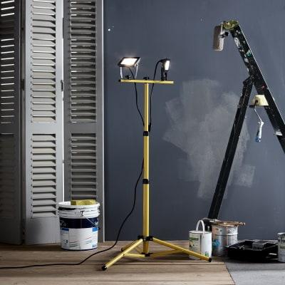 Proiettore LED integrato Yonkers in alluminio, nero, 20W 2x1800LM IP65 INSPIRE