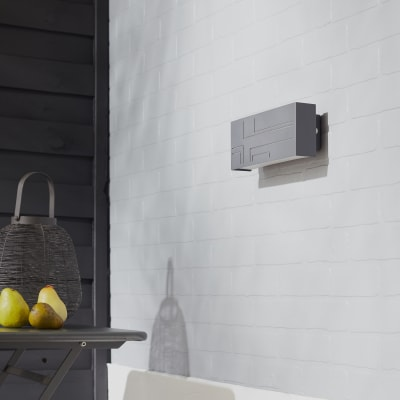 Applique Strip LED integrato in alluminio, antracite, 9.5W 1000LM IP54 INSPIRE